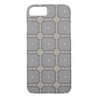 Capa iPhone 8/ 7 caso do iPhone 7 - cinza da ilusão óptica