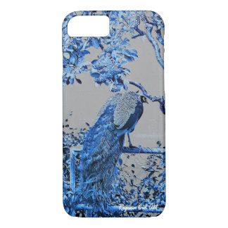 Capa iPhone 8/ 7 caso do iPhone 7 com o design azul do pavão