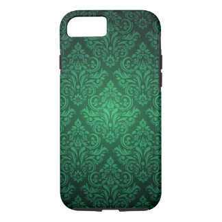 Capa iPhone 8/ 7 Caso do iPhone 7 da cor damasco do verde esmeralda