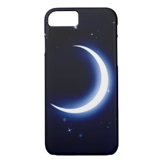 Capa iPhone 8/ 7 Caso do iPhone 7 da lua e das estrelas mal lá