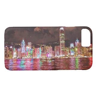 Capa iPhone 8/ 7 Caso do iphone 7 da skyline de Hong Kong