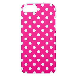 Capa iPhone 8/ 7 Caso do iPhone 7 das bolinhas do rosa quente