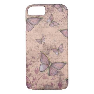 Capa iPhone 8/ 7 Caso do iPhone 7 das borboletas do Grunge do