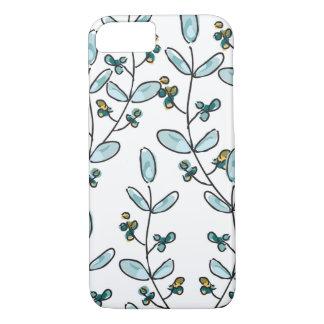 Capa iPhone 8/ 7 Caso do iPhone 7 das flores & das videiras de