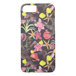 Capa iPhone 8/ 7 Caso do iPhone 7 das flores e da galinha da fruta