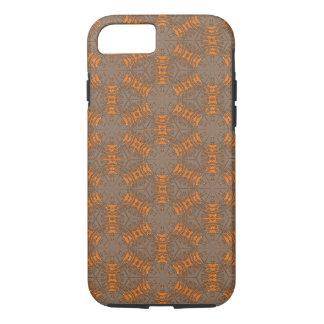 Capa iPhone 8/ 7 Caso do iPhone 7 de Brown da laranja e do Mocha