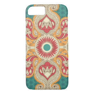 Capa iPhone 8/ 7 Caso do iPhone 7 de Paisley do vintage