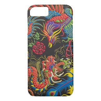 Capa iPhone 8/ 7 Caso do iPhone 7 de Yin Yang Phoenix e de dragão