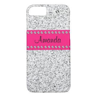 Capa iPhone 8/ 7 Caso do iPhone 7 do brilho BLING do rosa quente &