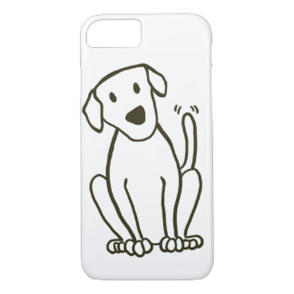Capa iPhone 8/ 7 Caso do iPhone 7 do cão - amor de Labrador