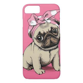 Capa iPhone 8/ 7 Caso do iPhone 7 do cão do Pug do Pinup