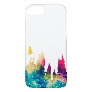 Capa iPhone 8/ 7 Caso do iPhone 7 do castelo do Watercolour