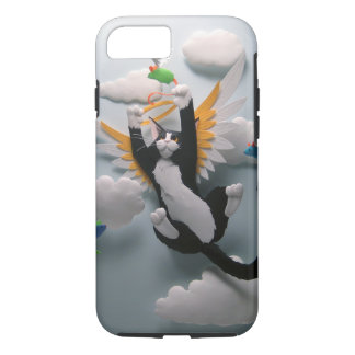 Capa iPhone 8/ 7 Caso do iPhone 7 do céu do gato