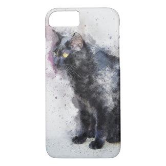 Capa iPhone 8/ 7 Caso do iPhone 7 do design do Watercolour do gato