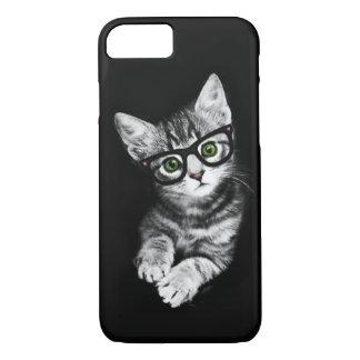 Capa iPhone 8/ 7 Caso do iPhone 7 do gatinho do hipster do amante