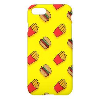 Capa iPhone 8/7 Caso do iPhone 7 do hamburguer e das fritadas