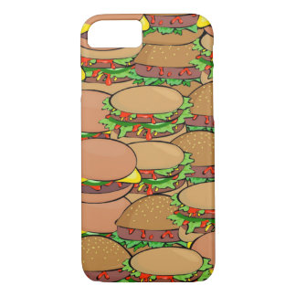 Capa iPhone 8/ 7 Caso do iPhone 7 do mundo do cheeseburger