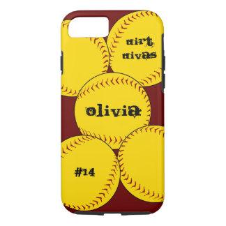 Capa iPhone 8/ 7 Caso do iPhone 7 do softball de Fastpitch