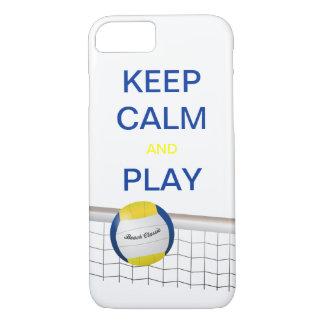 Capa iPhone 8/ 7 Caso do iPhone 7 do voleibol de praia