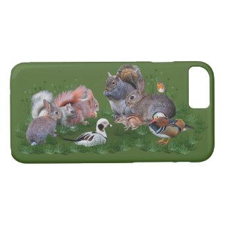 Capa iPhone 8/ 7 Caso do iPhone 7 dos animais da floresta