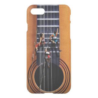 Capa iPhone 8/7 Caso do iPhone 7 dos montanhistas da guitarra