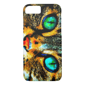 Capa iPhone 8/ 7 Caso do iPhone 7 dos olhos de gato da aguarela