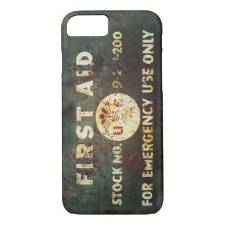 Capa iPhone 8/ 7 Caso do iPhone 7 dos socorros do vintage WWII