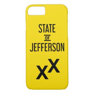 Capa iPhone 8/ 7 caso do iPhone 7 - estado de Jefferson XX