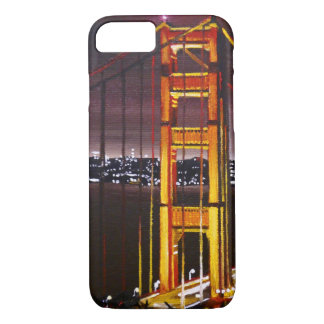 Capa iPhone 8/ 7 caso do iPhone 7 - golden gate bridge