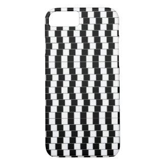 Capa iPhone 8/ 7 caso do iPhone 7 - ilusão óptica preta/branco 2