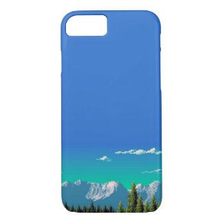 Capa iPhone 8/ 7 caso do iPhone 7 - montanhas do pixel