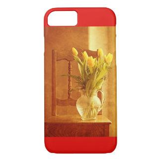 Capa iPhone 8/ 7 caso do iPhone 8 - buquê da tulipa em uma cadeira