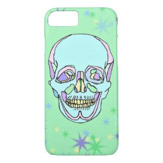 Capa iPhone 8/ 7 Caso do iPhone Pastel brilhante 7 do crânio e das