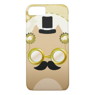 Capa iPhone 8/ 7 Caso do smartphone do gato de Steampunk