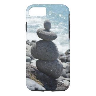 Capa iPhone 8/ 7 Caso do telemóvel da costa do oceano das pedras da