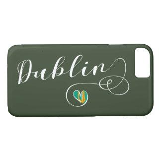 Capa iPhone 8/ 7 Caso do telemóvel do coração de Dublin, Ireland