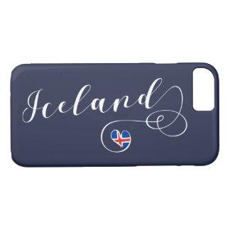 Capa iPhone 8/ 7 Caso do telemóvel do coração de Islândia, islandês