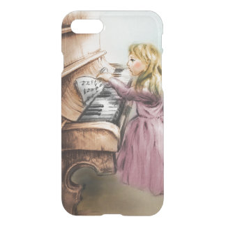 Capa iPhone 8/7 caso do vintage do iPhone - menina do piano