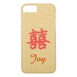 Capa iPhone 8/ 7 Caso dobro chinês feito sob encomenda da alegria