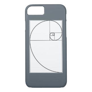 Capa iPhone 8/ 7 Caso espiral do telemóvel de Fibonacci