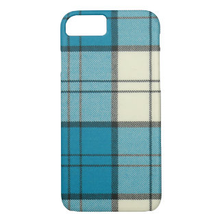 Capa iPhone 8/ 7 Caso-Esteira do iPhone 7 do Tartan de turquesa do
