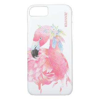 Capa iPhone 8/ 7 Caso feito sob encomenda do iPhone 7 do flamingo
