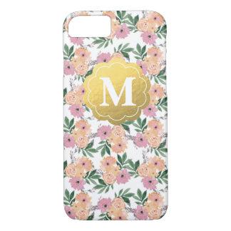 Capa iPhone 8/ 7 Caso floral customizável