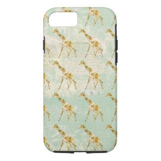 Capa iPhone 8/ 7 Caso floral do iPhone 7 do teste padrão do girafa