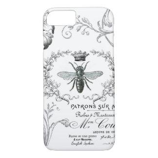 Capa iPhone 8/ 7 Caso francês do iPhone 7 da abelha de rainha do