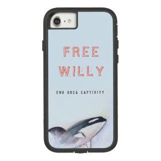 Capa iPhone 8/ 7 Caso livre da pilha da baleia de assassino de