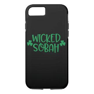 Capa iPhone 8/ 7 Caso mau do telemóvel de Sobah, fundo preto