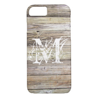 Capa iPhone 8/ 7 Caso Monogrammed de madeira resistido do iPhone 7