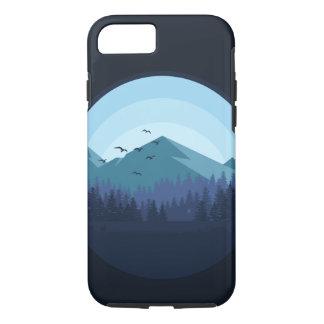 Capa iPhone 8/ 7 Caso nevado da paisagem da montanha