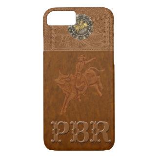 """Capa iPhone 8/ 7 Caso ocidental do iPhone 7 do rodeio de """"PBR"""""""